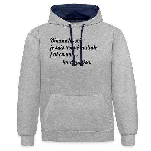 La lundigestion - Sweat-shirt contraste