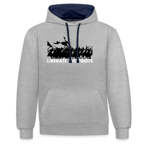 LiberateChatbots - Sweat-shirt contraste