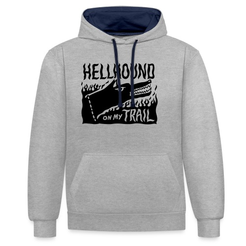Hellhound on my trail - Contrast Colour Hoodie