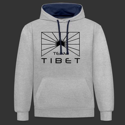 Team Tibet - Kontrast-Hoodie