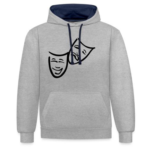 Theatermasken - Kontrast-Hoodie