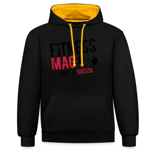 Fitness Mag made in corsica 100% Polyester - Sweat-shirt contraste