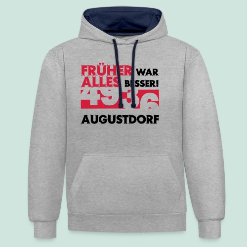 Früher 4936 Augustdorf - Kontrast-Hoodie
