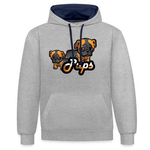 Pups - Kontrast-hettegenser