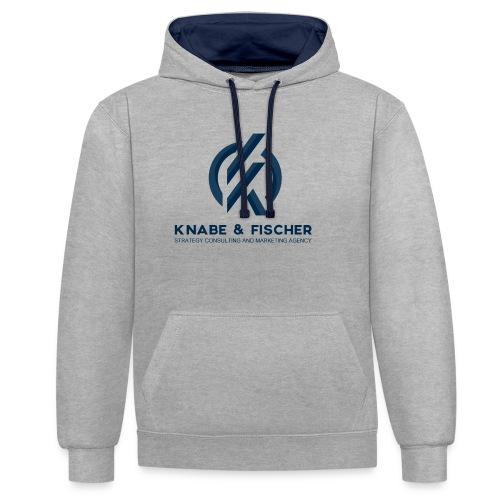 Krasses Design - Kontrast-Hoodie