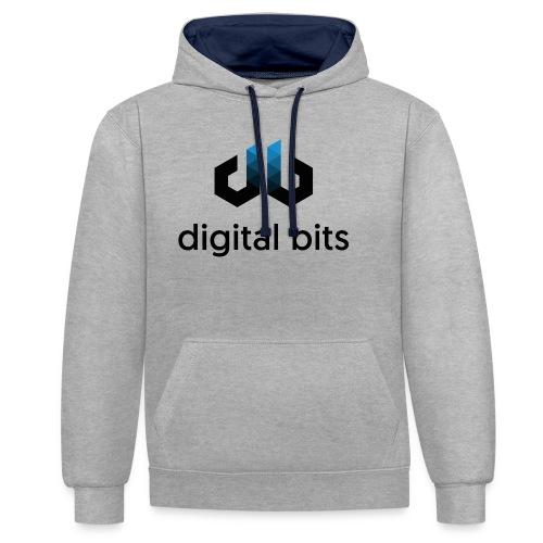 digitalbits Logo mit Schriftzug - Kontrast-Hoodie