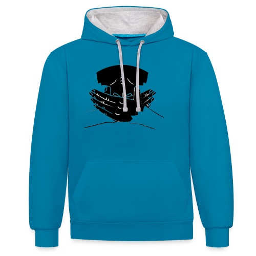 Give them the words - Contrast Colour Hoodie