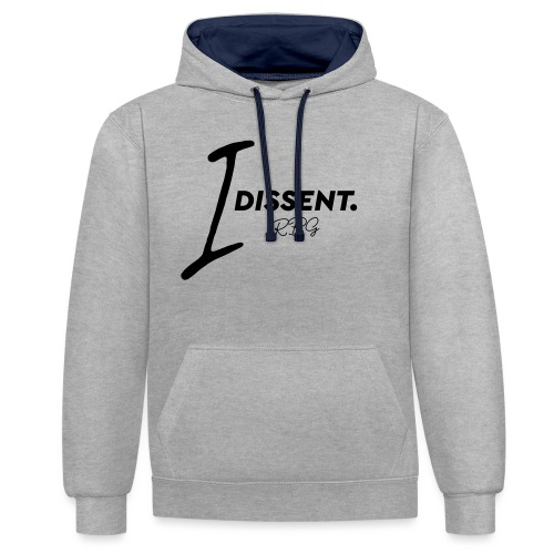 I dissented - Contrast Colour Hoodie