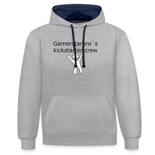Kickstarter crew - Kontrast-hættetrøje