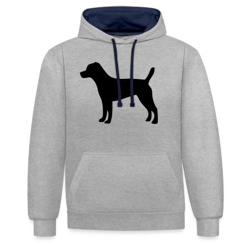 Patterdale Terrier - Kontrast-Hoodie