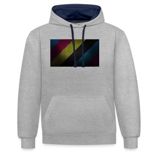 techno_dots_y_t_f-jpg - Contrast Colour Hoodie