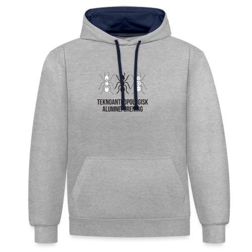 Teknoantropologisk Støtte T-shirt figur syet - Kontrast-hættetrøje