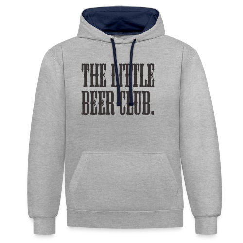 The Little Beer Club. Grey T Shirt - Contrast Colour Hoodie