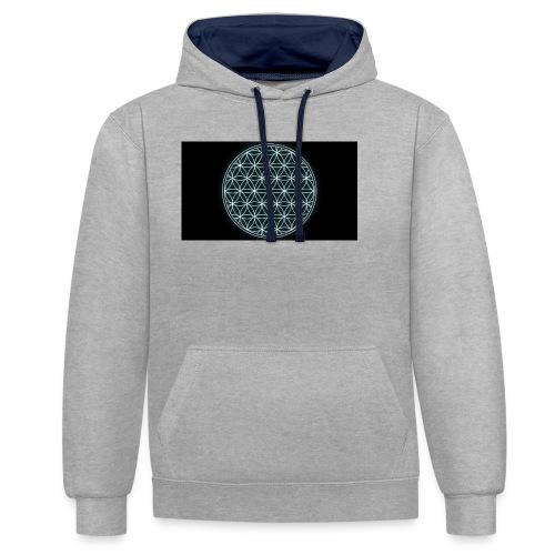 flower of life - Contrast hoodie