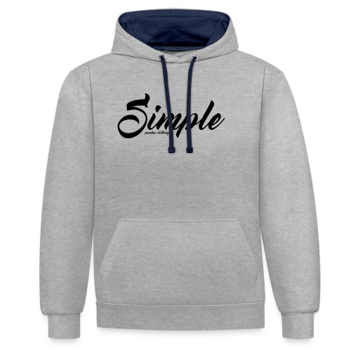 Simple: Clothing Design - Contrast Colour Hoodie