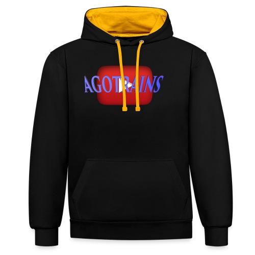 AGOTRAINS - Felpa con cappuccio bicromatica