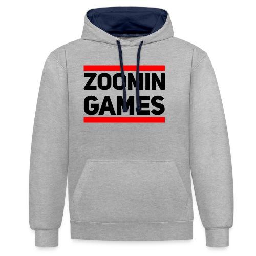 9815 2CRUN ZG - Contrast Colour Hoodie