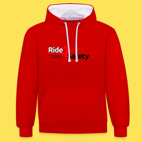 Ride4Safety - Felpa con cappuccio bicromatica