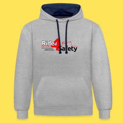 Ride4Safety - Felpa con cappuccio bicromatica