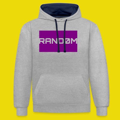 Random Logo - Contrast Colour Hoodie
