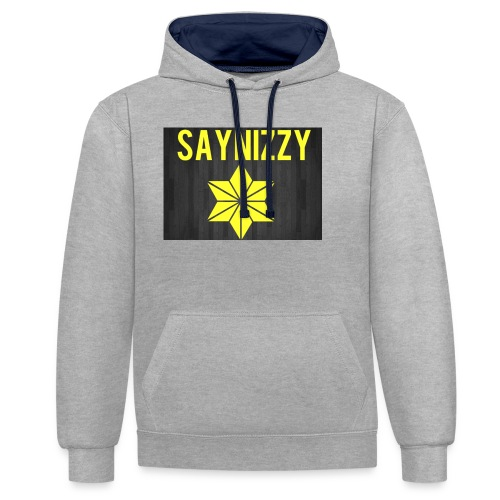 Say nizzy - Contrast Colour Hoodie