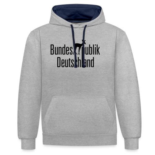 BundesREHpublik_D - Kontrast-Hoodie