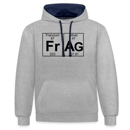 Fr-Ag (frag) - Full - Contrast Colour Hoodie