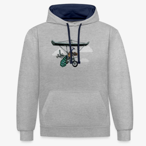 Flight of the Peacock - Contrast Colour Hoodie