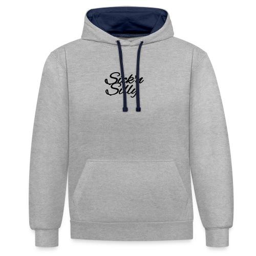 Sick´n Silly Logo - Kontrast-Hoodie