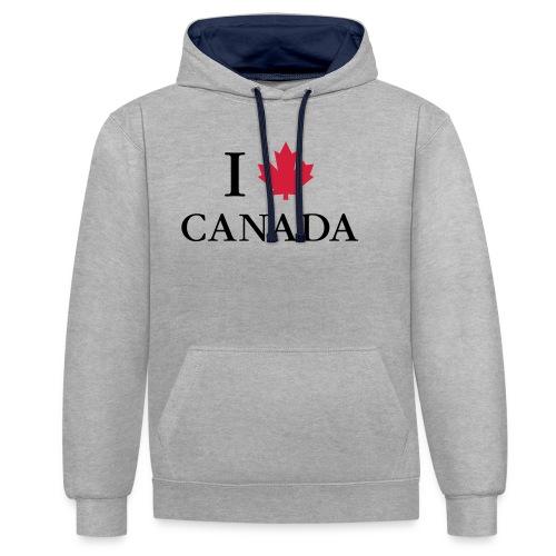 I love Canada Ahornblatt Kanada Vancouver Ottawa - Contrast Colour Hoodie