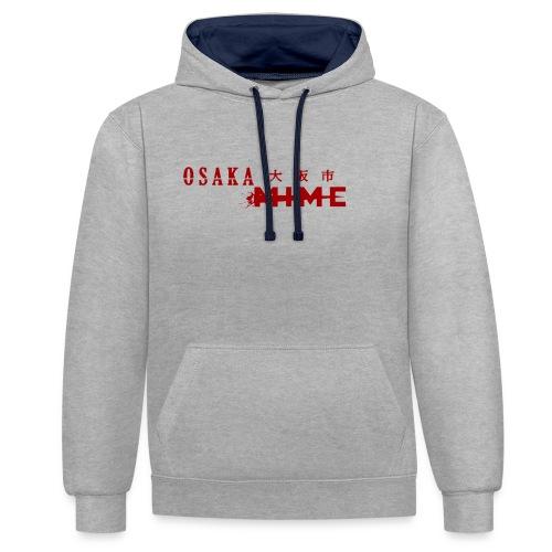 Osaka Mime Logo - Contrast Colour Hoodie