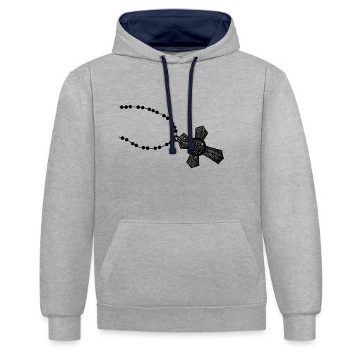 kruis 2 png - Contrast hoodie