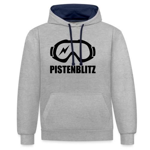 pistenblitz - Kontrast-Hoodie