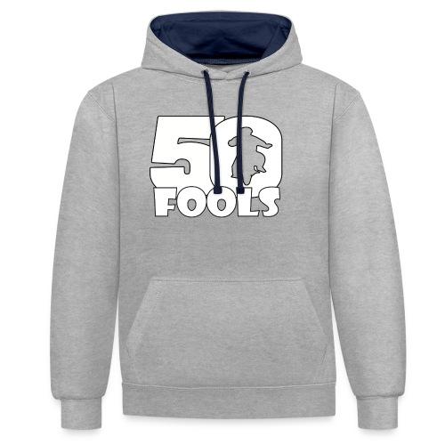 50FOOLSLOGOSPREADSHIRT png - Contrast hoodie