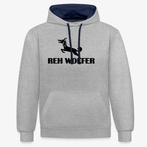 Reh Wolver - Kontrast-Hoodie