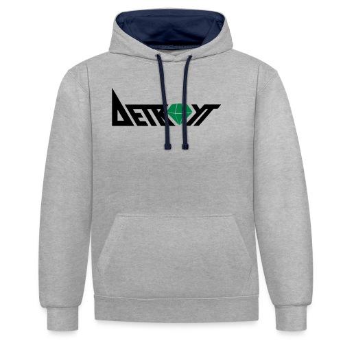 Detroyt Logo - Kontrast-Hoodie