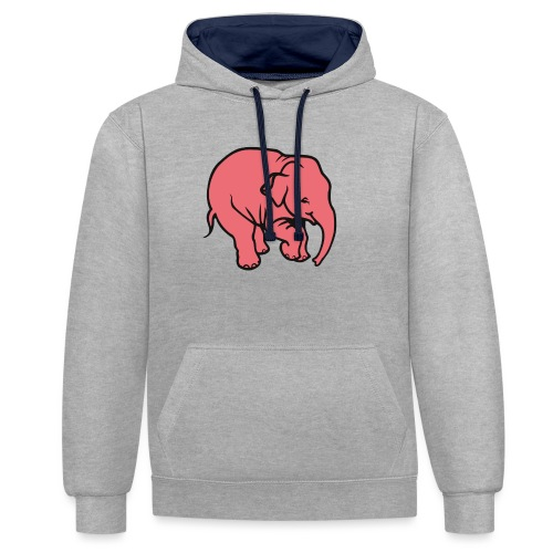 DT olifant - Contrast hoodie