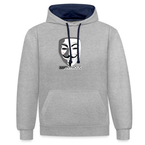 Anonymous - Contrast Colour Hoodie