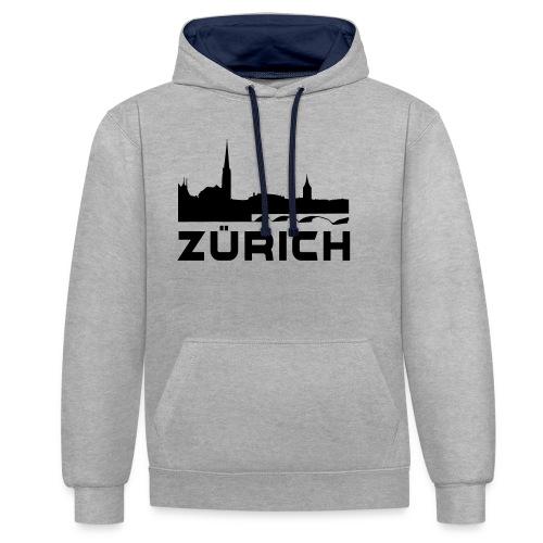 Zürich - Kontrast-Hoodie