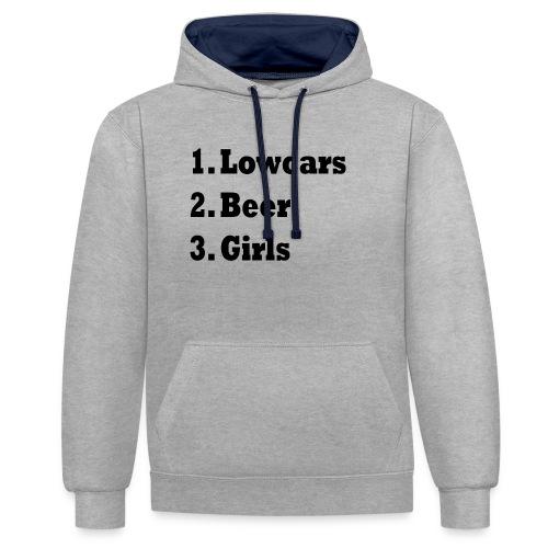Lowcars Shirt - Contrast hoodie
