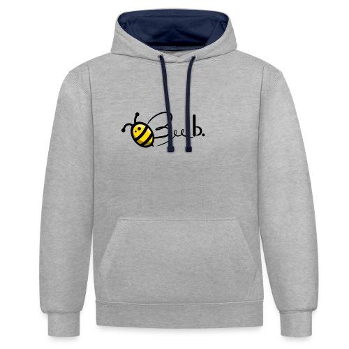 Bee b. Logo - Contrast Colour Hoodie