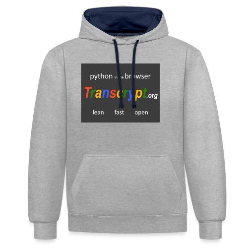 Transcrypt Logo - Contrast hoodie