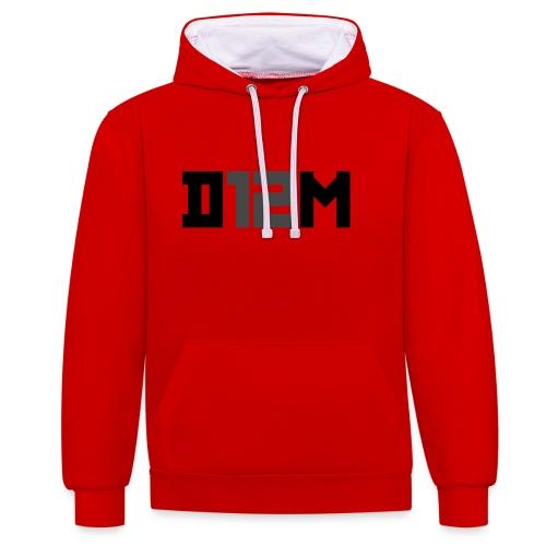 D12M: SHORT BLACK - Contrast hoodie