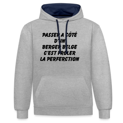Frôler la perfection - Sweat-shirt contraste