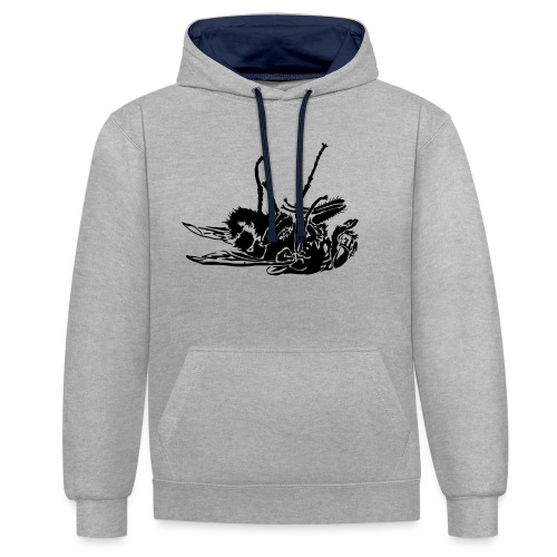 mouche morte - Sweat-shirt contraste