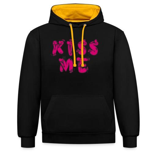 KISS ME - Kontrast-Hoodie