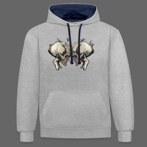 MHF_Logo_Loose-Skulls - Contrast Colour Hoodie
