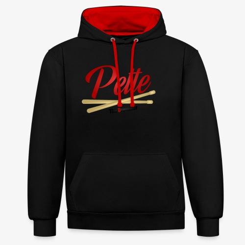 Pette the Drummer - Contrast Colour Hoodie