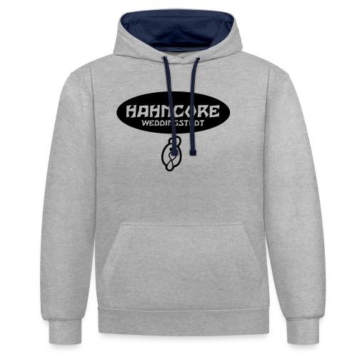 hahncore_sw_pfad - Kontrast-Hoodie