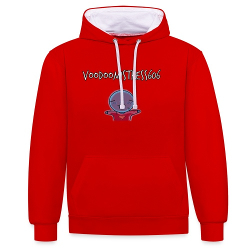 voodoodool emoji design - Sweat-shirt contraste